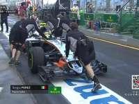 F1澳大利亚站一练 佩雷兹印度力量赛车被推回