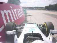 F1匈牙利站FP2:汉密尔顿撞上护墙引发红旗