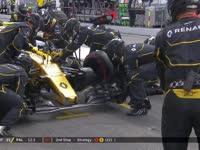 F1德国站正赛:帕默尔进站再换前鼻翼