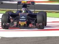 F1意大利站FP1 小塞恩斯在阿斯卡里弯冲出赛道