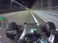 F1新加坡站排位赛:罗斯伯格杆位圈回放
