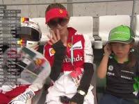 可爱!F1日本站FP1:看台小车迷Cos维特尔