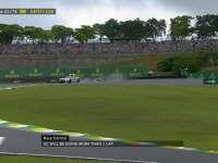 F1巴西站正赛:比赛再次开始安全车继续带领