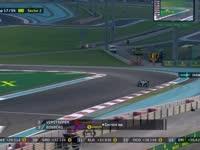 F1阿布扎比站正赛 汉密尔顿轮胎开始打滑