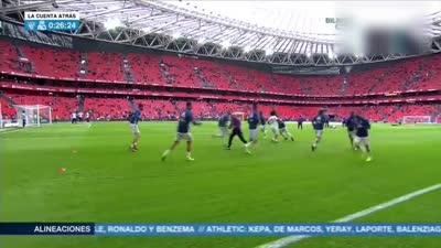 【热身】暖!马塞洛赛前热身将球衣赠送给场边皇马球迷