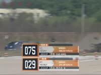 八达岭竞速赛女车手失控冲出赛道 有惊无险并无大碍