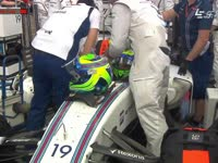 F1澳大利亚站正赛 马萨红旗忙换头盔