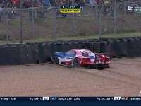 勒芒24小时耐力赛:67号赛车失控撞墙 车手表达遗憾