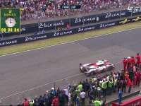 勒芒24小时耐力赛冲线:保时捷2号逆转拿下冠军