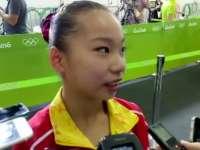 王妍:赛前没想过夺牌   不会上学要继续练