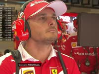 F1意大利站FP1 意大利车手费斯切拉法拉利P房观战