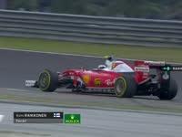 F1马来西亚站正赛:莱科宁提醒技师忘调维修区限速