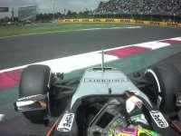 F1墨西哥站FP2:佩大师赛车甩尾吃草