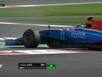 F1阿布扎比站FP1 乔丹金打转屁股撞杆