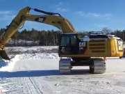 疯狂的挖掘机司机驾驶操作技能 老司机