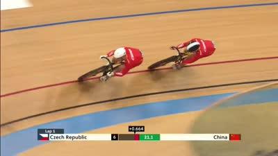 男子团体竞速资格赛 中国队力压群雄暂列第一