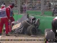 F1澳大利亚站正赛阿隆索古铁雷兹惊天大撞!头哥飞天
