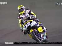 Moto2卡塔尔站正赛冲线圈 Luthi夺冠Morbidelli被罚20秒