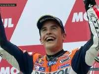 MotoGP阿根廷站正赛 颁奖台颁奖 马奎兹滑倒
