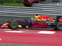 半雨胎跑干地 F1奥地利站FP2 里卡多1号弯锁死