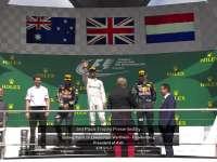 F1德国站正赛颁奖典礼:汉密尔顿夺得冠军