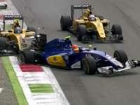 F1意大利站正赛:纳斯尔被帕默尔顶出赛道