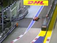 F1新加坡站正赛:维特尔疑似压到维修区入口处白线