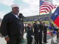 F1美国站正赛赛前唱国歌仪式