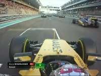 F1阿布扎比站正赛起跑回放:马格努森撞前翼