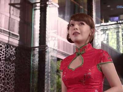 4k演示片北京烤鸭与美女