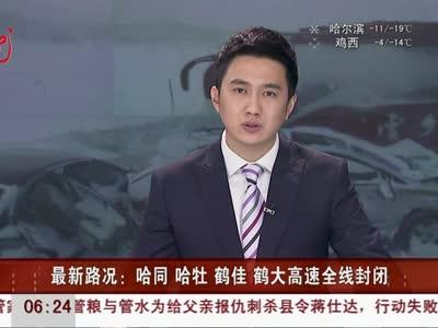 最新路况:哈同 哈牡 鹤佳 鹤大高速全线封闭