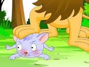 儿童睡前故事大全之照哈哈镜的狮子