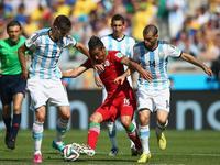 阿根廷1-0伊朗 梅西补时世界波绝杀