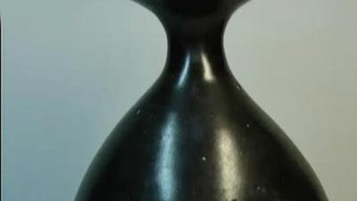 宋代黑釉陶瓷 嫁妆瓶