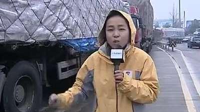 抗击冰雪 直击杭城晚高峰