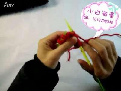 【棒针编织花样】波浪花 围巾织法