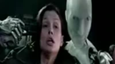 《机械公敌》 片段之机器人眨眼