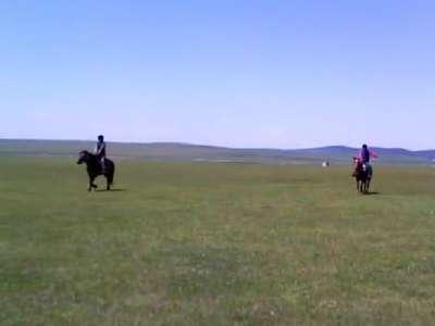 内蒙古呼伦贝尔草原老高马场骑马