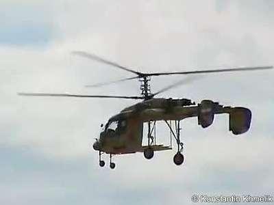 毛子多种型号共轴直升机飞行表演_高清
