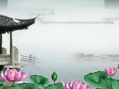 中国风 水墨荷花 led高清动态背景素材