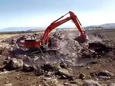 日立zaxis-5 大挖掘机在以色列工作