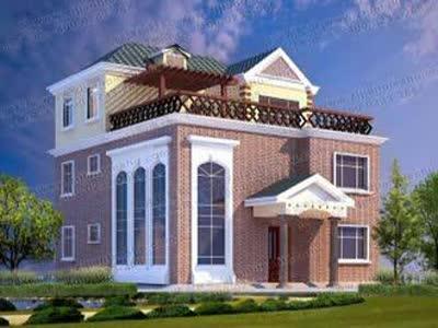 漂亮大气三层欧式别墅设计图及效果图