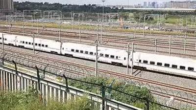 火车高铁磁悬浮货车高清拍摄素材
