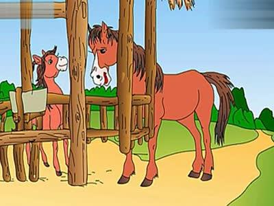 牛伯伯简笔画 小小孩影院 小马过河
