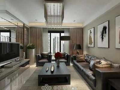 扬州江湾城83平方装修效果图-扬州面对面装饰